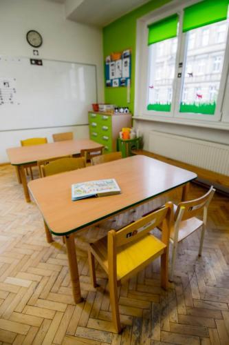 sala grupy zielonej-stanowiska pracy edukacyjnej